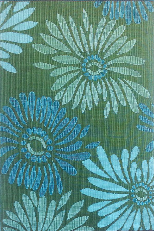 daisy aqua green